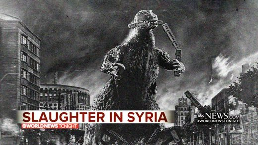 ABC News airs authentic footage of Godzilla rampaging through Syria