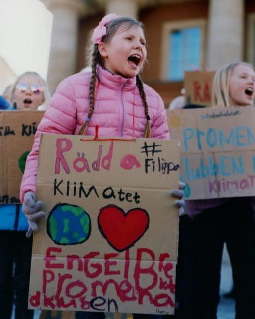 thunberg climate protest children