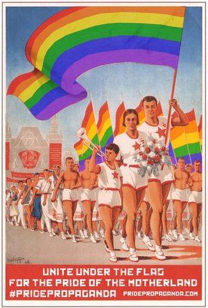 soviet pride poster LGBT