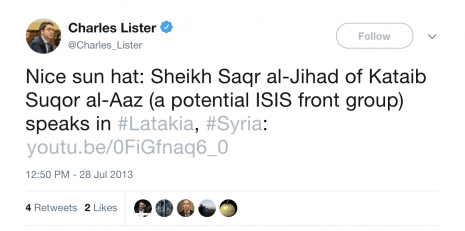 lister atlantic council shamiwitness isis syria