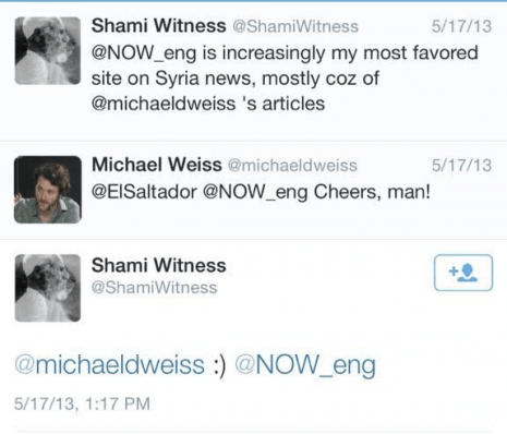 shamiwitness michael weiss isis syria