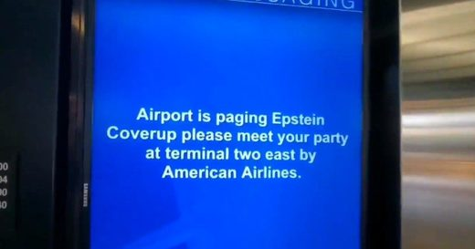 "Airport pages ""Epstein Coverup"": Viral meme spreading across social media keeps Epstein story going"