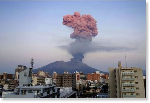 Japan's Mount Sakurajima volcano makes largest eruption in 3