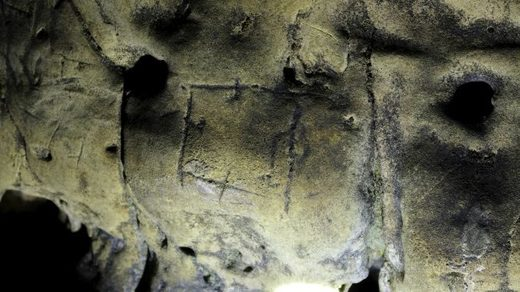Witch marks at Creswell Crags