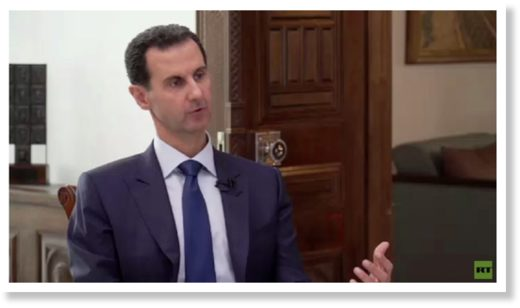 BEST OF THE WEB: Syria's Assad gives exclusive interview to RT UK on manufactured origins of 'civil war' and US control of 'ISIS'