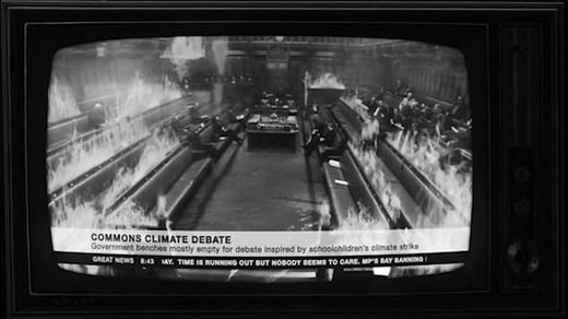 Extinction Rebellion releases music video showing Parliament burning, Downing Street flooded and MPs wearing gas masks