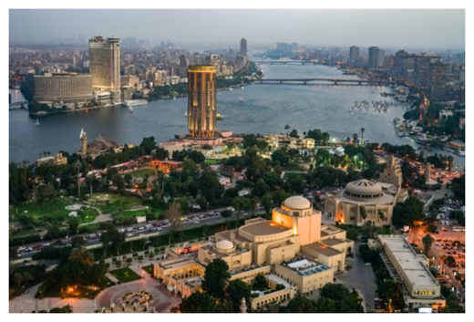 The Nile River in Cairo, Egypt