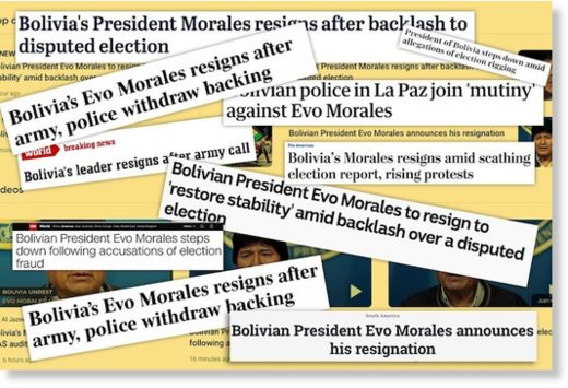 BEST OF THE WEB: MSM Adamantly Avoids the Word 'Coup' in Bolivia Reporting