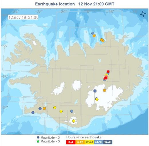 Iceland earthquake swarm