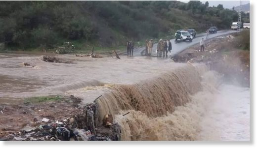 Flash floods in Bouzeguene, Algeria 12 November 2019.