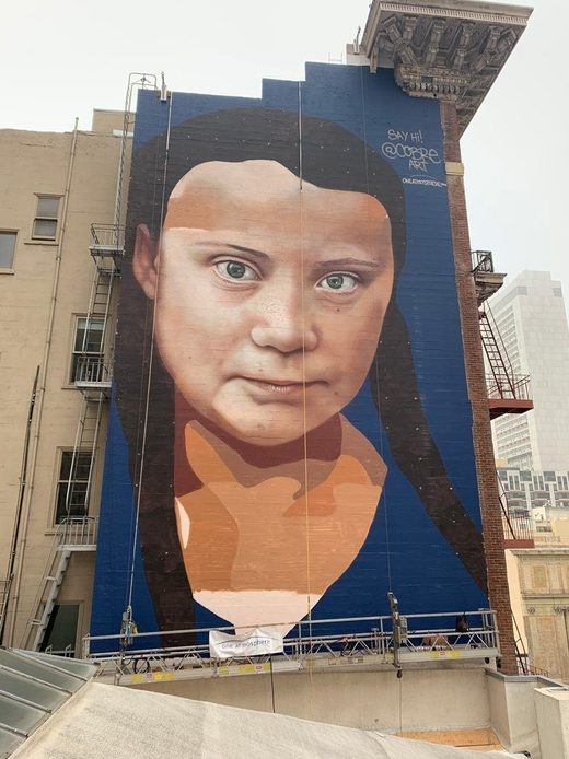 thunberg mural big brother san francisco