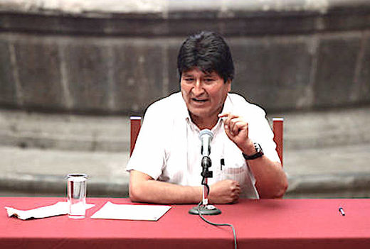 Morales: 'We freed ourselves of IMF and had big plans on exports'; hints at OAS-US role in coup