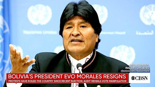 MSM: The Bolivian 'coup' is not a coup if it serves the US