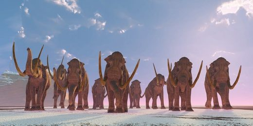 Ice Age footprints of mammoths and prehistoric humans revealed for the first time using radar