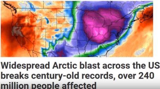 US arctic blast