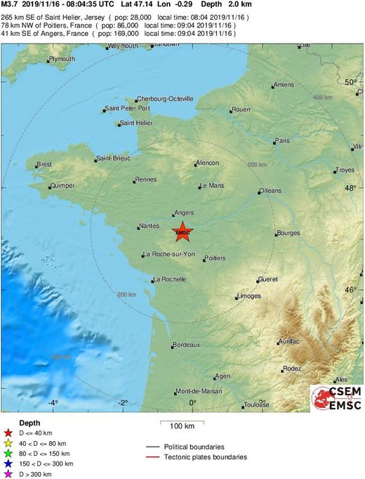 earthquake france m3.7