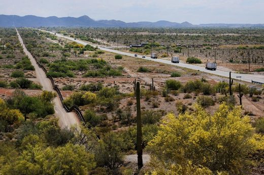 Lukeville, southwest of Tucson hot spot for migrant crossings