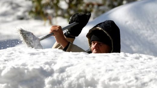 Record cold and snow in US