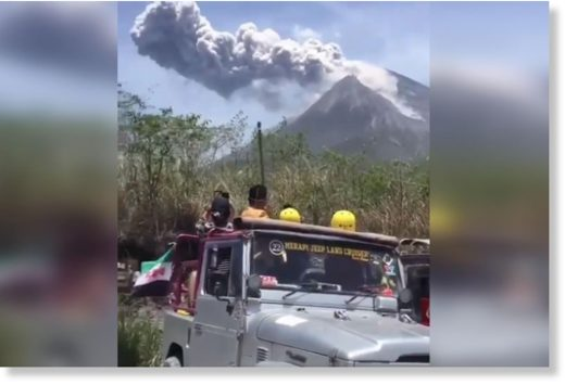 A screen grab from Indonesia's National Disaster