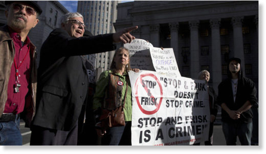 People protest 'stop and frisk'