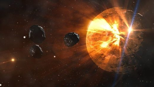 Asteroids nearing Earth