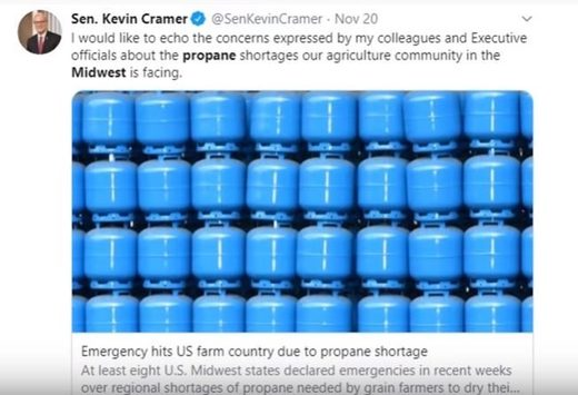 US propane shortages