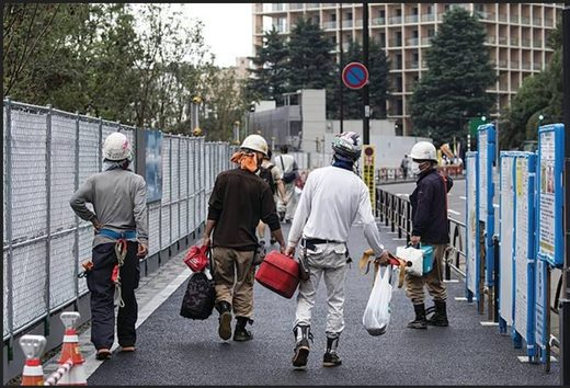 construction workers japan