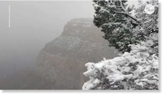 Several inches of snow turns Grand Canyon into winter wonderland