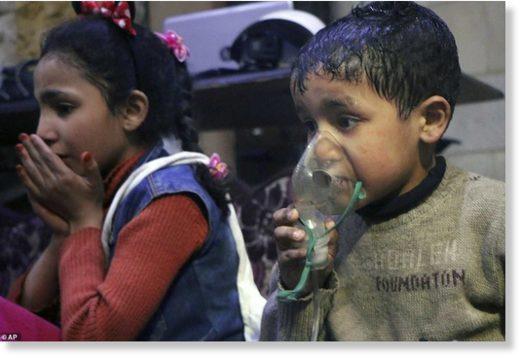 Douma faked attack