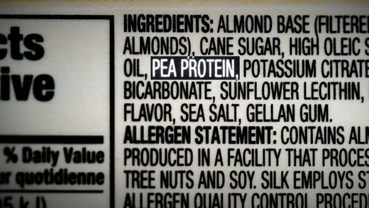 pea protein ingredients label