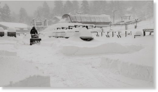 Thanksgiving Storm Drops 4 Feet of Snow on Big Bear Mountain