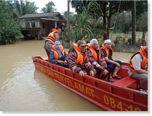 Flood rescues and evacuations in Terengganu, Malaysia, November 2019.