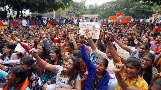protest india gang rape murder