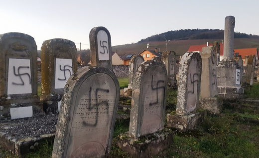 desecrated jew cemetary