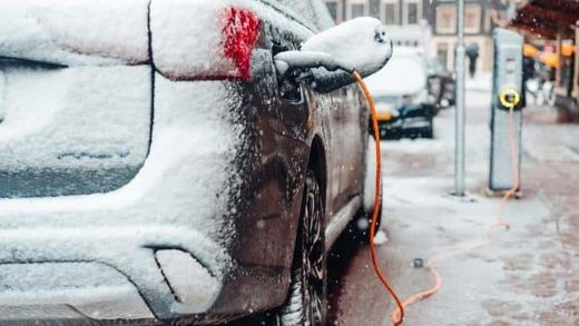 electric car winter