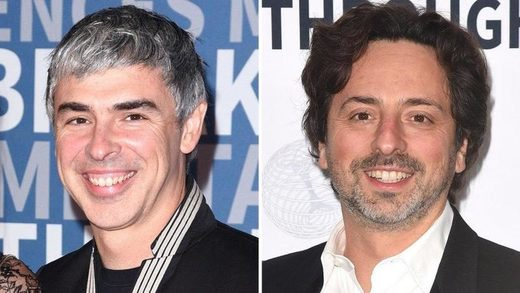 google's Sergey Brin and Larry Page