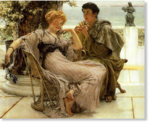 The Proposal by Sir Alma Tadema, 1892
