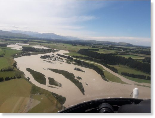 Rangitata River in flood
