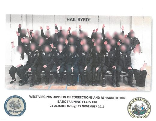 West Virginia state officials Nazi salute