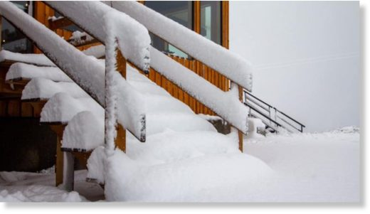 This photo from the Mount Washington Alpine Resort Facebook page shows just how much snow fell there on Dec. 11.