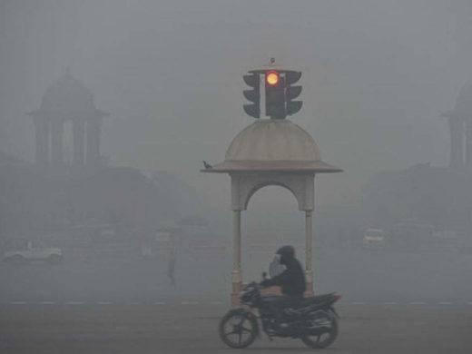 Delhi's low tempartures
