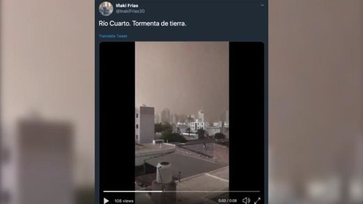 Dust storm in Cordoba, Argentina