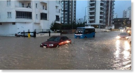 Floods hit the southern province of Mersin