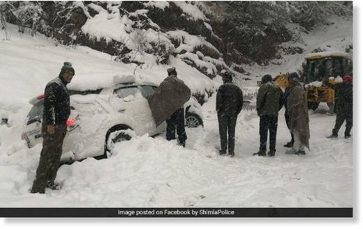 Several places in Himachal Pradesh have received heavy snow.