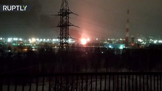 refinery explosion fire Komi republic