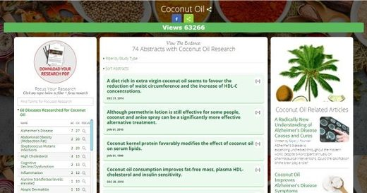 Coconut oil data base