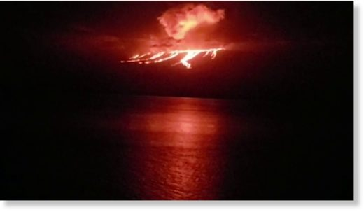 Volcano erupts on ecologically sensitive Galapagos island