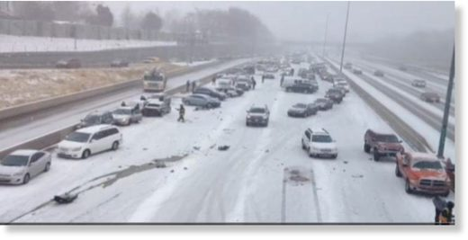 Icy roads to blame for 45 car accident, Oklahoma ...