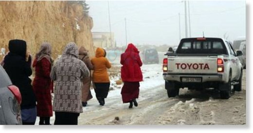 Tafileh witnessed heavy snowfall on Tuesday