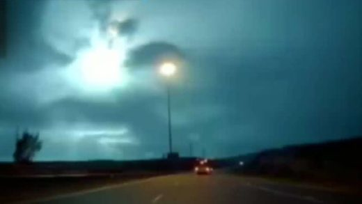 Blazing blue meteor turns night into day over Israel